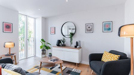 The living area in the Hertfordshire House show home. Picture: Angle Property