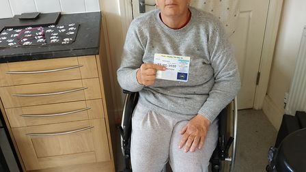 Blue Badge holder Alison Gann was asked for more information to renew her disabled bus pass by Hert