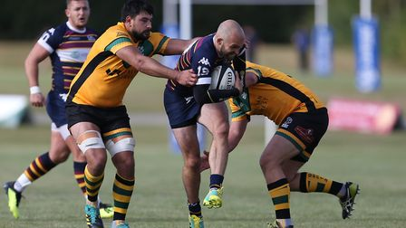Old Albanian's Tom Bednall scored two tries in the win over Sutton & Epsom. Picture: DANNY LOO