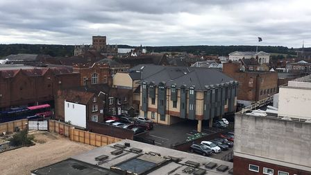 The view from one of the penthouse apartment balconies at Hertfordshire House, St Albans. Picture: J