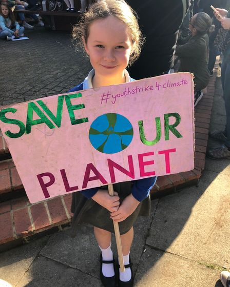 Jessica Dolan was protesting at the Global Climate Strike along with her mum, Suzanne Dolan, and abo
