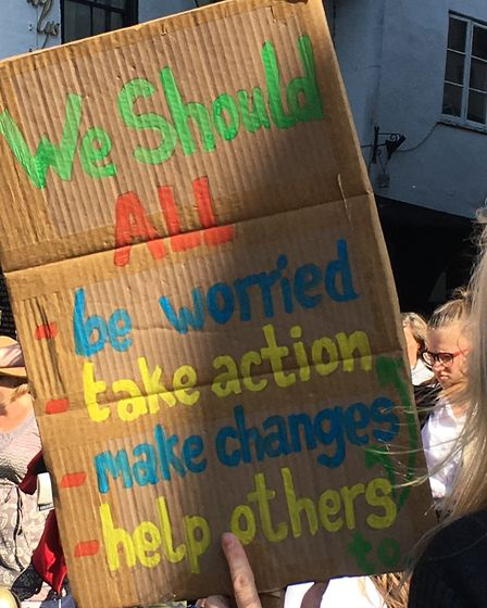 The climate strike protest took place in St Albans on Friday, September 20. Picture: Gail Jackson
