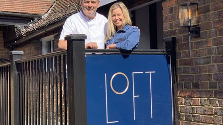 Stacey Turner from the It's OK To Say campaign with Nick Male, owner and chef at Loft restaurant in