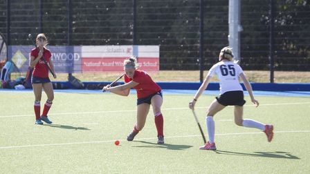 Eleanor Pybus hit one of the goals in St Neots Ladies 1sts' victory against Cambridge University 2nd