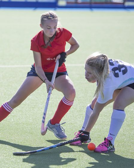Chloe Cundick in action for St Neots Ladies 1sts against Cambridge University 2nds. Picture: ADAM CU