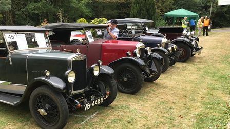 The 15th annual Car Show at Holy Trinity Church in Meldreth, before the rain came down. Picture: Joh