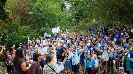 Over 300 people turned out on Sunday, September 22 for The Ver Valley protest over a lack of water
