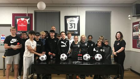 The #livesnotknives presentation evening at Royston Town Football Club. Picture: Simone Robinson