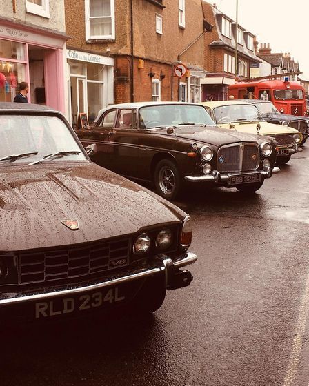 Vintage cars lined the streets for the St Albans Time turn Festival 2019. Picture: Izzy Ross