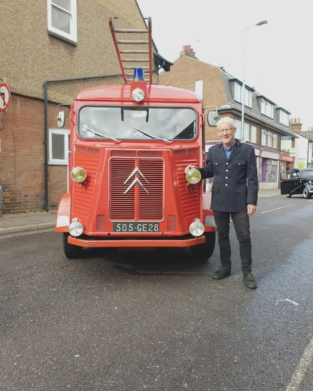 David Ross with his vintage vehicle. Picture: Izzy Ross