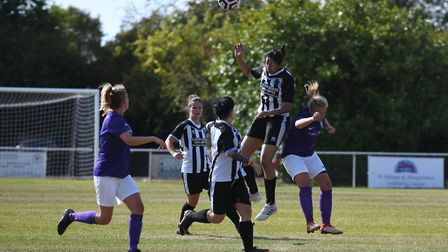 Colney Heath Ladies lost to Royston Town in the Women's FA Cup. Picture: JAMES LATTER
