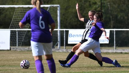 Melissa Godino in action for Colney Heath Ladies against Royston Town in the Women's FA Cup. Picture