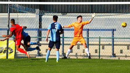 St Neots Town goalkeeper James Philp was beaten five times for the third successive home league game