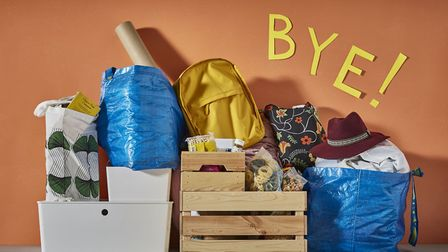 Student essentials: a selection of packing and storage items from Ikea. Picture: PA Photo/Handout
