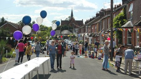 St Albans street party in aid of Let's Play at Bernards Heath. Picture: Mick North