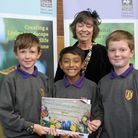 Winners of the sixth annual District Schools in Bloom contest. Cunningham Hill Junior School won the