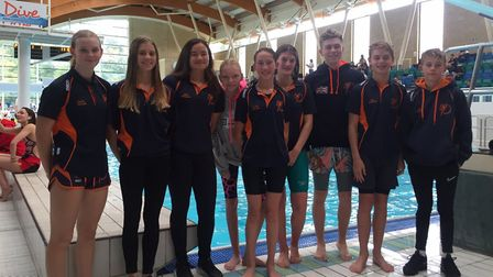 St Ives swimmers at the Cambridge Grand Prix event. Picture: SUBMITTED
