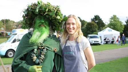 Royston Arts Festival - Wild Man of the Woods with Ellen Novak from Kettles Yard.Picture: Karyn H