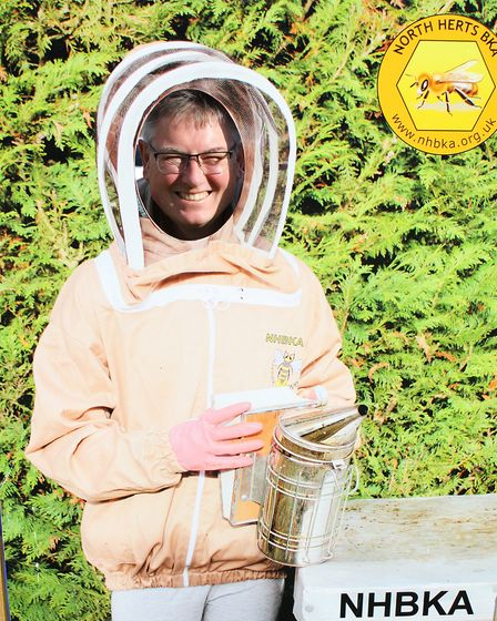 Royston Arts Festival - Gary Hammond from the North Herts Bee Keeping Association.Picture: Karyn