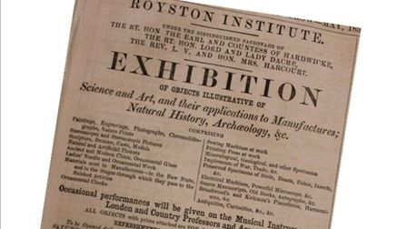 1856 exhibition advert. Picture: Royston & District Museum