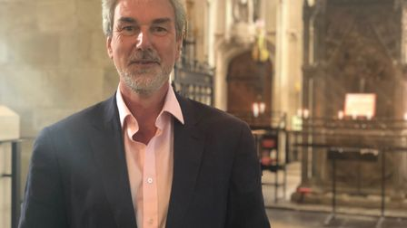 Dr Julian Godlee at St Albans Cathedral, where he will be in concert on November 9. Picture: Laura B