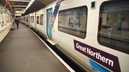 A person has been hit by a train on the Great Northern line between Cambridge and Letchworth this af