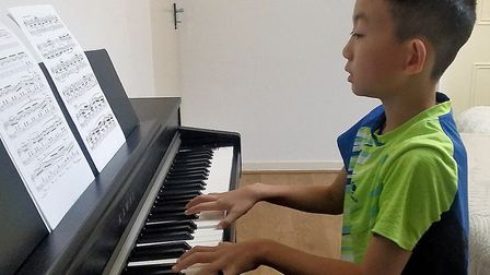 St Albans pianist Haofei Du took his Grade 5 piano exam, aged eight, and passed with a dis