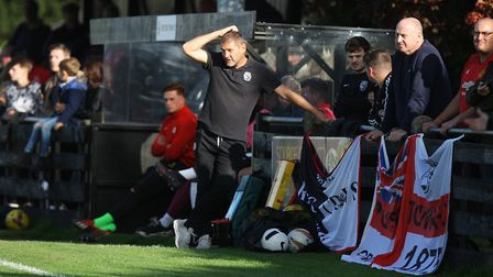 Royston Town V Beaconsfield - Steve Castle , Manager Royston Town.Picture: Karyn Haddon
