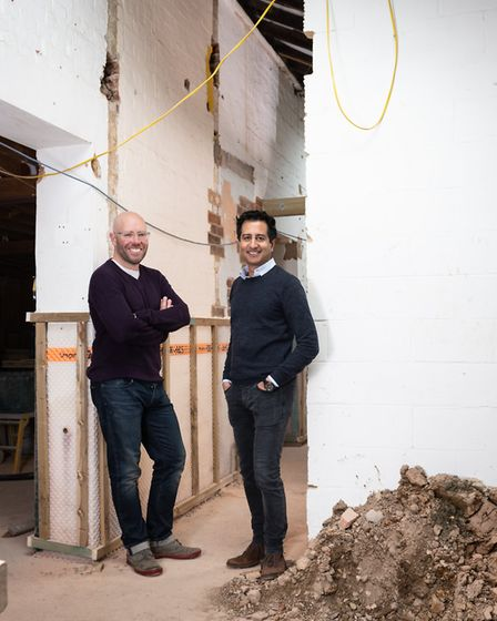 Benn Latham, left, and Harry Dougall, co-founders of BubbleHUB, St Albans. Picture: Mark Sims