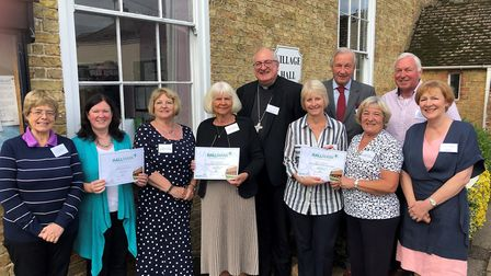 Lorna Pepper, Sue Chase, Kay Davis, Dorothy Woods, Right Reverend Stephen Conway, Bishop of Ely, Car