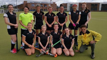 The successful Huntingdon 1sts are, back row, left to right, Charlotte Begg, Vicky Wakefield, Cora D