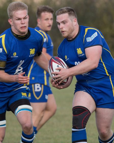 Andrew Stewart (right) made his St Ives debut in the defeat to Leighton Buzzard. Picture: PAUL COX
