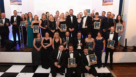 The winners of the 2018 Huntingdonshire Business Awards ceremony. Picture: ROB MORRIS