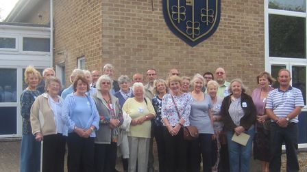 A group of the original Melbourn Village College students attended the reunion. Picture: MVC