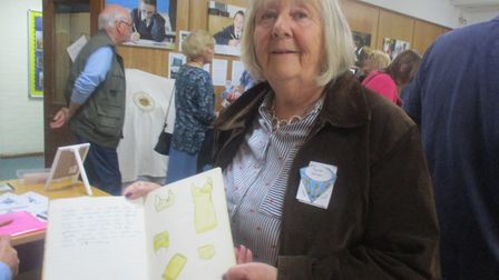 Sarah Warren, who attended from the first day until 1963, was reunited with her fashion project book
