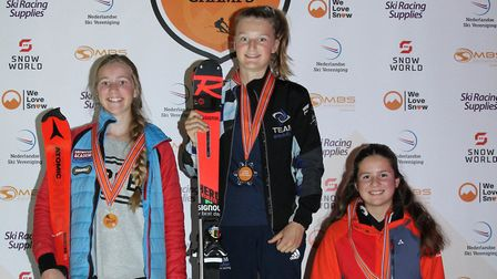 St Albans' Liv Howeson won the U14 girls' race at the 2019 Lowlands Skiing Championships.