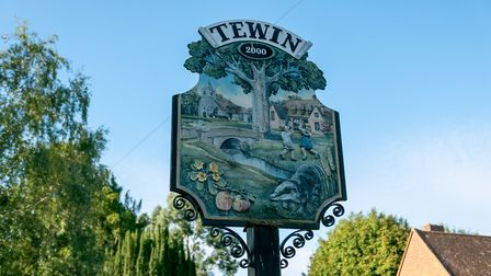 Welcome to Tewin. Picture: DANNY LOO