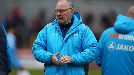 St Albans City manager Ian Allinson has urged the fans to back his players against Eastbourne Boroug