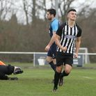 George Devine got Colney Heaths only goal at Old Bradwell United. Picture: KARYN HADDON