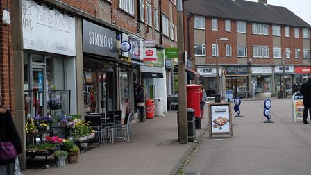 The Quadrant shops in Marshalswick