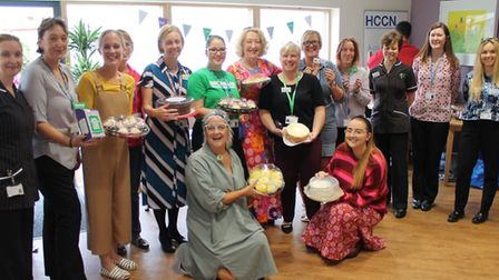 The coffee morning at the Woodlands Centre at Hinchingbrooke Hospital