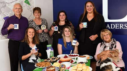 Staff at Leaders Estate Agents in St Ives held a coffee morning