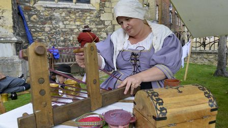 The Sealed Knot were in Huntingdon to mark the temporary closure of the Cromwell Museum. Picture: DU
