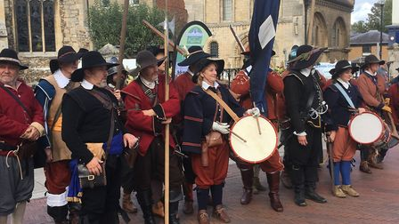 The Levellers group re-enacted a scene from Cromwell's mutinity