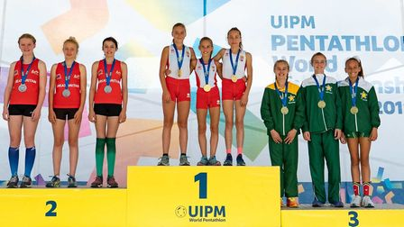 Raissa Vickery won team silver for GB at the Laser Run Championships in Budapest.
