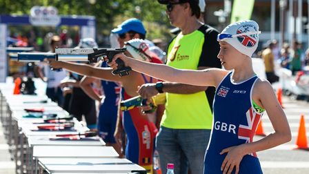 Raissa Vickery in action for GB at the European Biathle and Triathle Championships in Madeira.