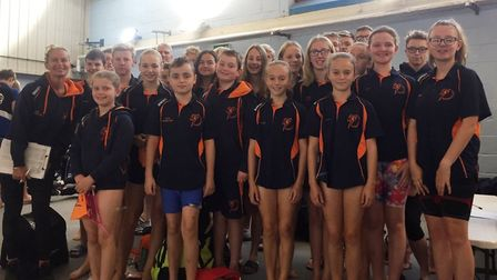 The St Ives swimmers who enjoyed success at the Richard O'Leary Memorial Meet in Whittlesey. Picture