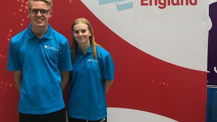 St Ives swimmers James Quinn and Ciara Taylor represented Cambridgeshire at the National Inter-Count