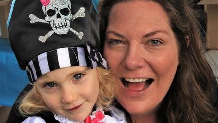 Charlotte and Sarah Howard at Royston Pirate Day 2019. Picture: Clive Porter
