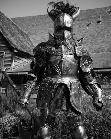 A knight at the Medieval Daze festival at St Michael's Church, St Albans. Picture: Evan Todd
